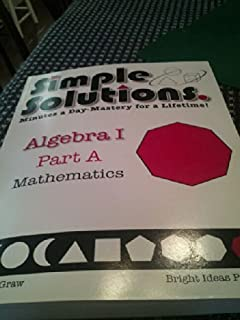 Simple solutions minutes a day mastery for a lifetime pre algebra simple solutions minutes a day mastery for a lifetime algebra 1 part a fandeluxe Images