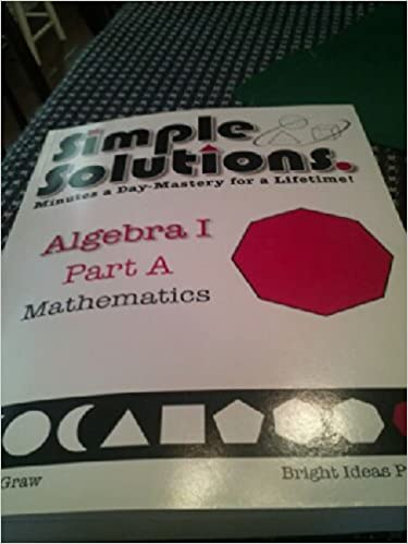 Simple solutions minutes a day mastery for a lifetime algebra 1 part simple solutions minutes a day mastery for a lifetime algebra 1 part a nancy mcgraw 9781934210185 amazon books fandeluxe Image collections