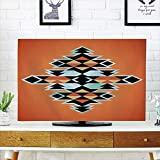 iPrint LCD TV Cover Lovely,Tribal,Tribal Aztec Pattern Ethnic Abstract Design Traditional Elements Print Decorative,Orange Black Pale Blue,Diversified Design Compatible 65'' TV