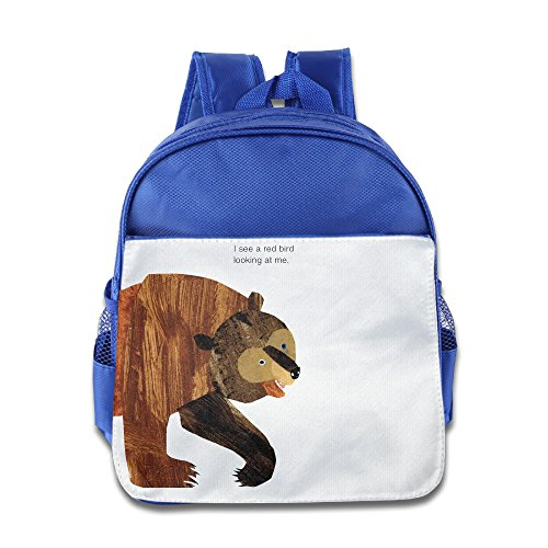 (Discovery Wild Child Toddler Kids Backpack School Bag, Brown Bear - RoyalBlue)