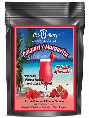 Skinny Cal-O-Berry (TM) Zero Calorie All Natural Strawberry Daiquiri / Margarita Cocktail Mix, 8 Servings (Margarita Strawberry Cocktail)