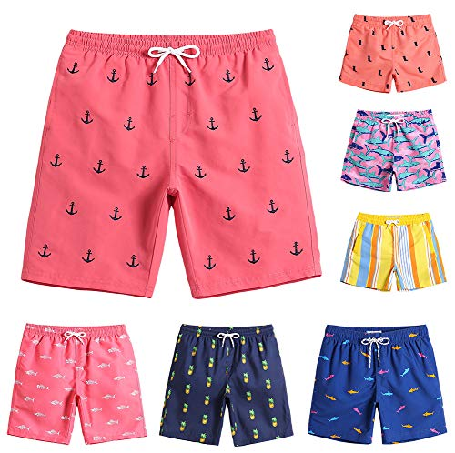 MaaMgic Boys Cute Anchor Swim Trunks 14T 16T Toddler Swim Shorts Little Boys Bathing Suit Swimsuit Toddler Boy Swimwear (Boy Bathing Suit)