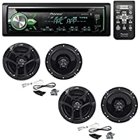 Pioneer DEH-X4900BT CD receiver with (2 Pairs) JVC CS-J620 300W 6-1/2 CS Series 2-Way Coaxial Car Speakers