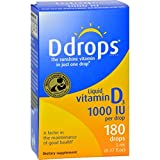 D Drops Liquid Vitamin D3 – 1000 IU – 0.17 fl oz Review