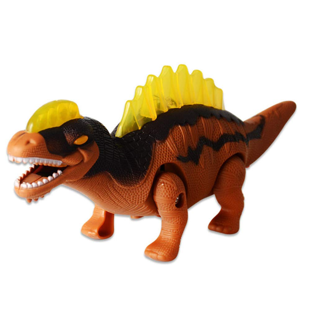 Oldeagle Walking Dinosaur Toy, Walking Electric Tyrannosaur Toy Figure with Lights & Sounds Real Movement for Kids Gift (Red)