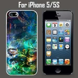 Abstract Horses Land Custom Case/ Cover/Skin *NEW* Case for Apple iPhone 5/5S - White - Plastic Case (Ships from CA) Custom Protective Case , Design Case-ATT Verizon T-mobile Sprint ,Friendly Packaging - Slim Case