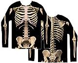 Faux Real Men's Skeleton Halloween T-Shirt, Multi, Large
