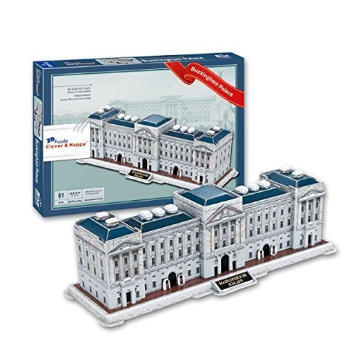 3D Buckingham Palace Replica Royal Landmark Model Puzzle 61 Piece Kit