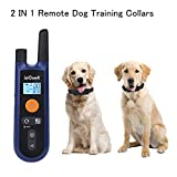 Dog Training Collars for 2 Dogs Remote Electronic Collar ieGeek Pet Trainer Shock Collars Rechargeable Waterproof E-Collar with Beep /Vibration /Shock Modes 330 Yards Range For Large/Medium/Small Dogs