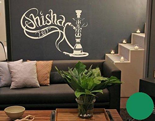 Klebefieber Wandtattoo Shisha-Bar B x H  120cm x 90cm Farbe  grün