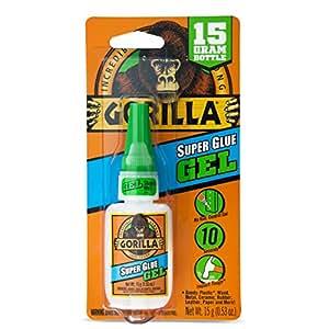 Gorilla Super Glue Gel, 15 Gram, Clear