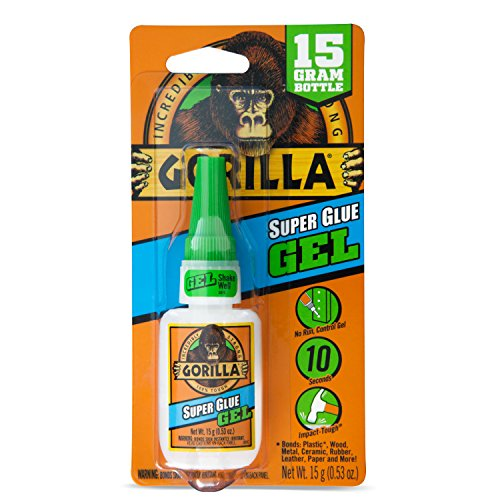 Gorilla Super Glue Gel, 15 g, (Second Skin Wood)