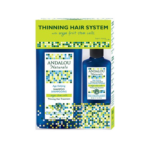 2 Packs of Andalou Naturals Thinning Hair System With Arg...