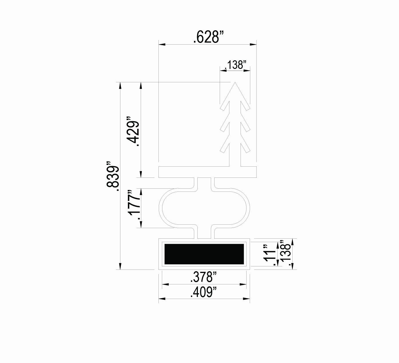 Trademark Hardware White Magnetic Weather Stripping for Doors