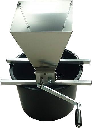 FEZBD Amoladora de Cebada Acero Inoxidable 2 Rodillos Grano Trituradora de Cebada Malta Elaboración casera Grano de Cereales Trituración, Barril no Incluido,77 * 151cm: Amazon.es: Hogar