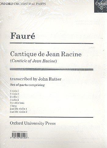 Cantique De Jean Racine: Set of Parts (Contains 2 of Each String Part, 1 Harp Part)