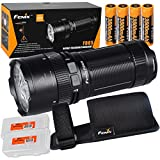 Fenix FD65 3800 Lumens High Performance Focusable Zoomable LED Flashlight, 4x 2600mAh 18650 Rechargeable Batteries, 2x Lumen Tactical Battery Organizers