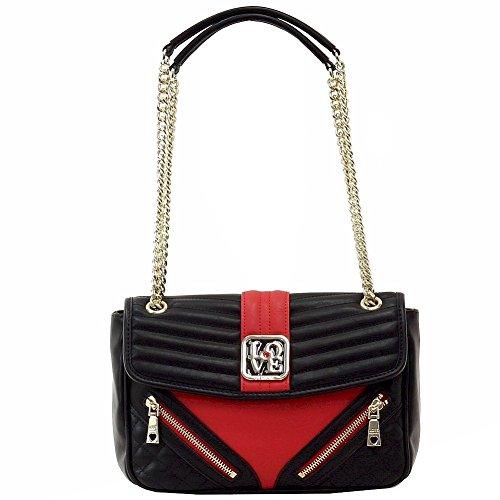 Love Moschino , Sac pour femme à porter à l'épaule NERO ROSSO