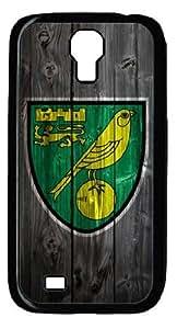 Norwich City FC logo - diy Samsung Galaxy S4 I9500 case - Rubber Black