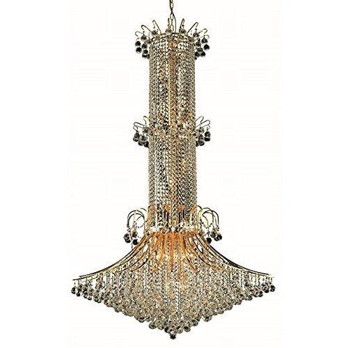 - Elegant Lighting 8008G44G/RC Royal Cut Clear Crystal Toureg 20-Light, Three-Tier Crystal Chandelier, 44