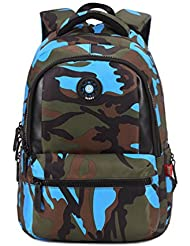 Camo Kids Backpack, Waterproof Camouflage Student Backpack Cool Boys School Bag