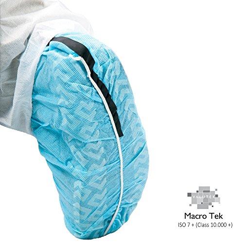 (Valutek VTSHCVASESDLF-L Polypropylene ESD Anti-Skid Cleanroom Shoe Cover [Elastic Ankle Cuff, Blue, Large] 300 pieces)