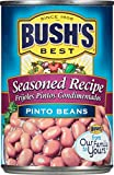 Gourmet Food : Bush's Best Seasoned Pinto Beans, 16 oz (12 cans)