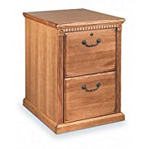 Kathy Ireland Home by Martin Huntington Oxford 2 Drawer Vertical Wood File Cabinet in Distressed Wheat