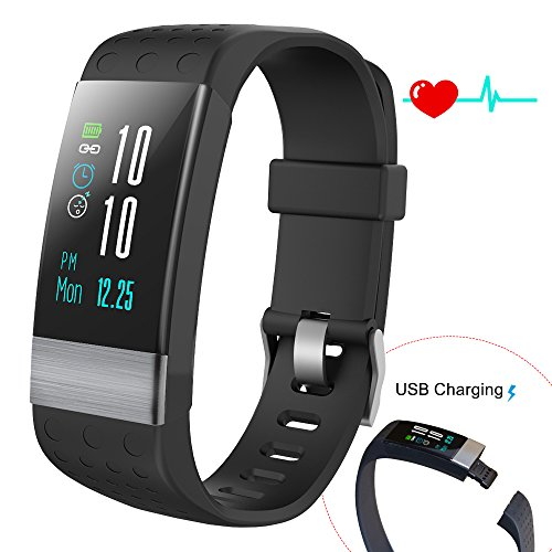 COSVII Fitness Tracker Large Color Screen, IP67 Waterproof Smart Bracelet with Heart Rate Monitor, Sleep Monitor, Blood Pressure Monitor,Pedometer, Calorie Tracker, Call& SMS Reminder for Kids