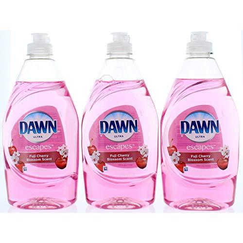 (3 Pk. Dawn Ultra Dawn Escapes Fuji Cherry Blossom Scent Dishwashing Liquid, 14.6 Ounce (Total 43.8 Fl. Oz))