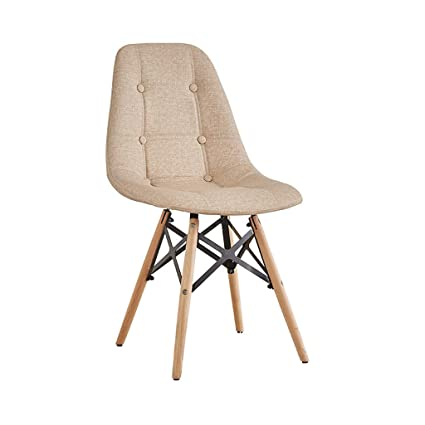 How to make wooden chair Pallet Wood Image Unavailable Amazoncom Amazoncom Zfgg Dining Chair Eames Style Retro Side Dining Chair