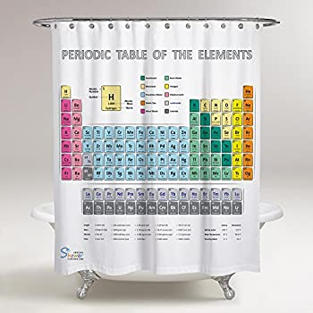 Amazon periodic table shower curtain eva vinyl the amazing shower curtains new 2018 design periodic table shower curtain 70x70 urtaz Image collections