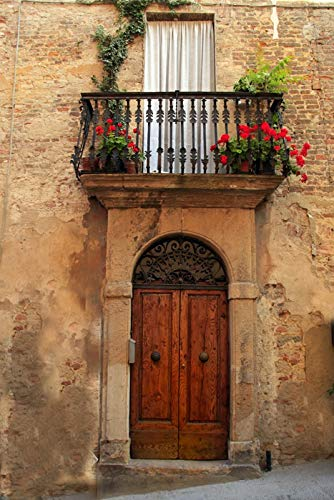 Tuscany, Italy - Village Balcony - Photography A-92505 (12x18 SIGNED Print Master Art Print w/Certificate of Authenticity - Wall Decor Travel ()
