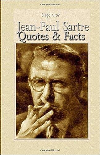 Jean Paul Sartre Quotes Facts Blago Kirov 9781508600114 Amazon