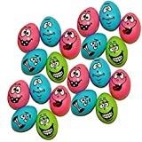 Funny Face Easter Eggs with Fillable Inside - 48 Pack Assorted Goofy Face Easter Eggs Party Favor - Holiday Decoration Easter Egg Hunt Party Surprise