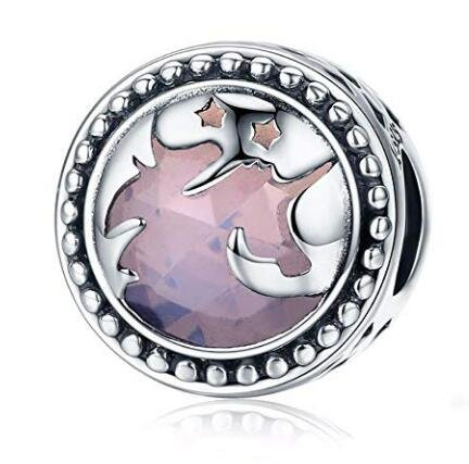 925 Sterling Silver Charms, Love Animal Charm Beads for Pandora Unicorn Charms Bracelets, Colorful Enamel Openwork Spacer Beads Bracelets for European Women Charm Bracelets (Purple Birthstone Charms)