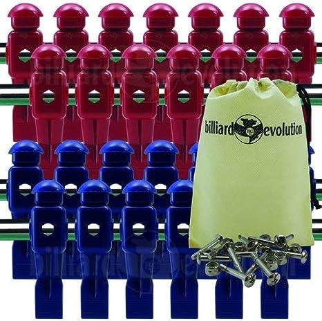 26 rojo y azul dinamo futbolín Hombres con libre tornillos y ...