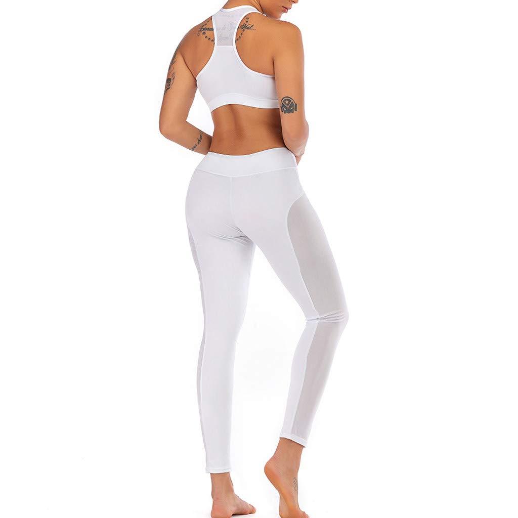 Keepwin Mujer Yoga Pantalones Fitness Leggings de Cintura ...