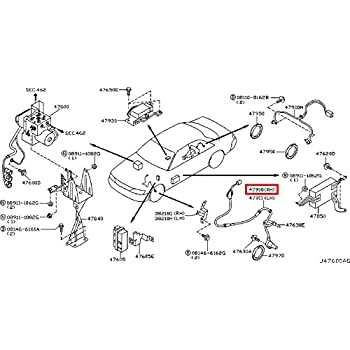 location of thermostat on 2002 infiniti i35 best place to find 1995 Infiniti J30 Rear Shocks infiniti 47910 ag060 abs wheel speed sensor