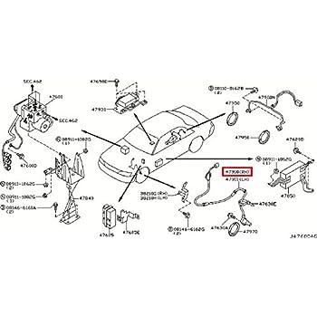 Amazon Com Infiniti 47910 Ag060 Abs Wheel Speed Sensor Automotive