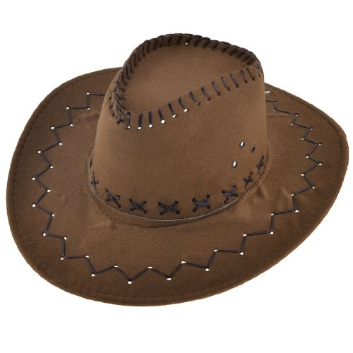 Man Hunting Adjustable Chin Strap Faux Suede Cowboy (Suede Cowboy Hat)