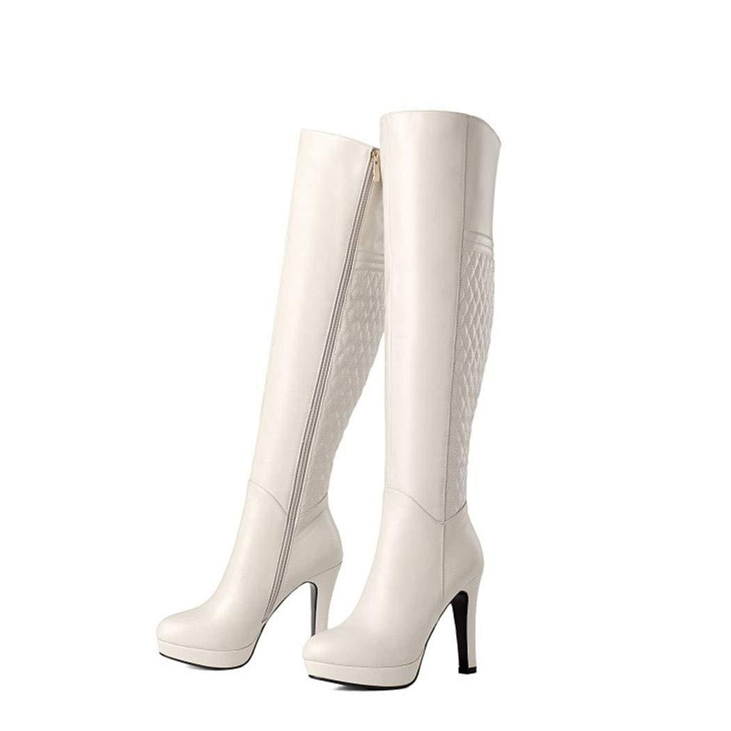 RLYAY RLYAY RLYAY Damenstiefel Winter Plus SAMT Stiefel High Heel Plattform Knie Stiefel c1dfbf