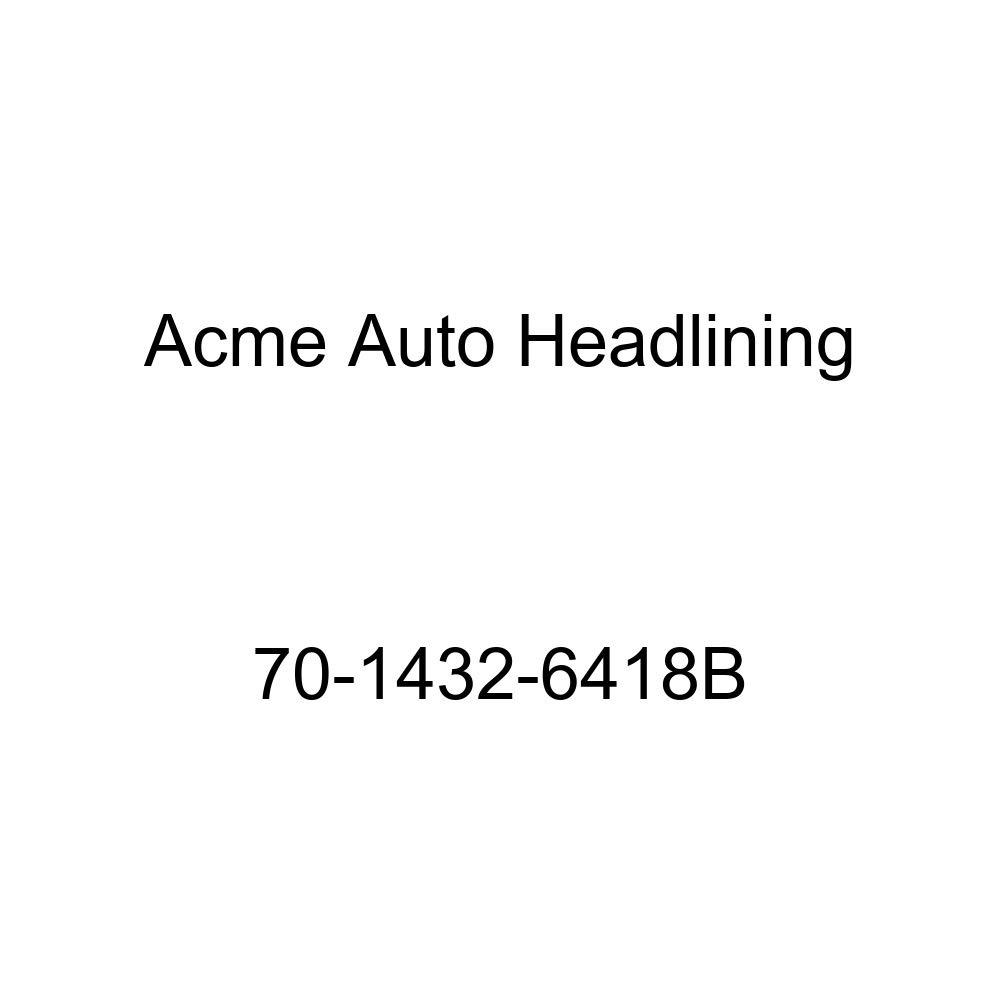 Acme Auto Headlining 70-1432-6418B White Replacement Headliner 5 Bow 1970 Chevrolet Nova 2 Door Coupe
