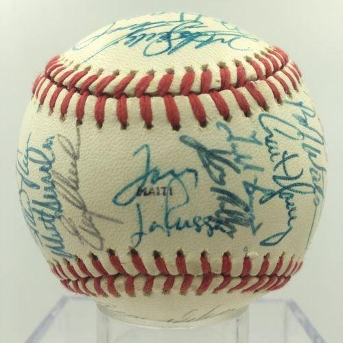 1988 Oakland Athletics A's Team Signed 1988 World Series Baseball - Autographed - World Autographed Baseball Team Series