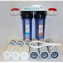 "3/4"" Port Dual Stage Whole House Water Filtration System with Sediment & CTO Filters"