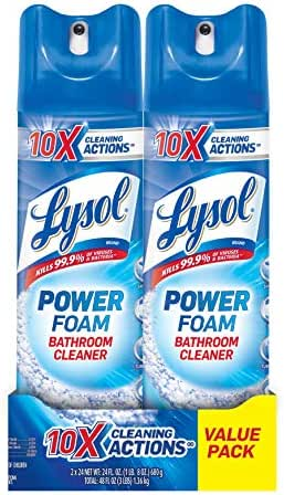 Bathroom Cleaner: Lysol Power Foam