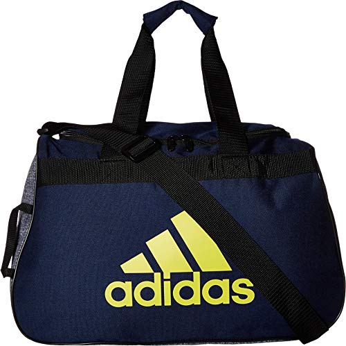 adidas Diablo Duffel Bag, Dark Blue Shock Yellow Onix Jersey Black, One Size cedd9cf183