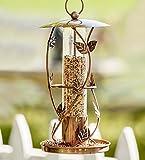 Wind & Weather Vintage Metal Lantern Bird Feeder – 6 dia. x 9.5-11 H – Vine Review