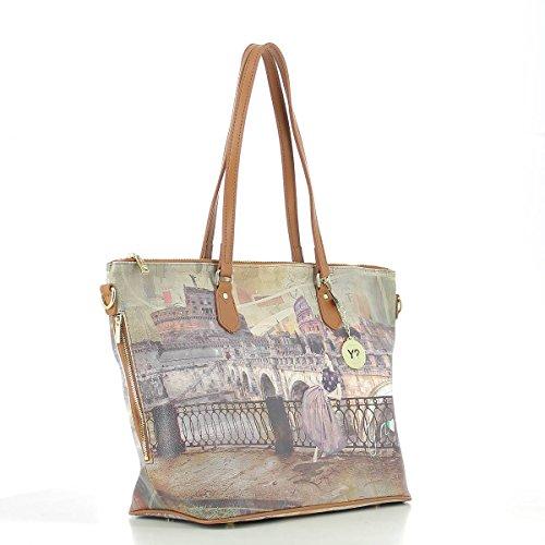 Shopping Bag Zip L ROMA RETRO