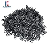 NauticalMart 1 kg Loose Chainmail Rings - Blackened Mild Steel Round Rings with Rivets